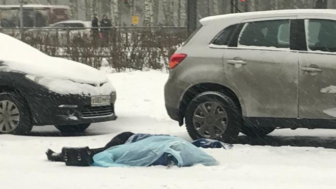 На Тихорецком проспекте на дороге погибла женщина