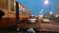 На Народной улице паровозик из четырех машин устроил ...