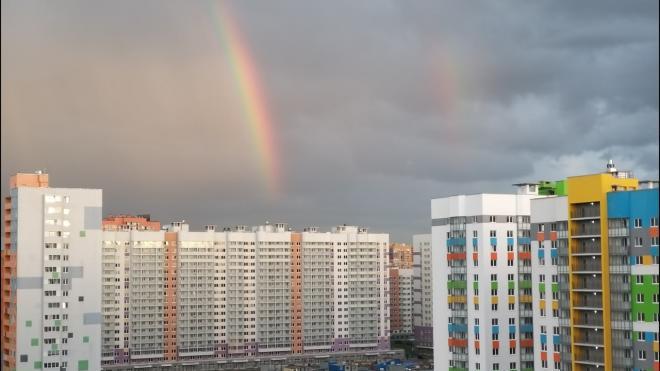 Петербуржцам посчастливилось увидеть двойную радугу