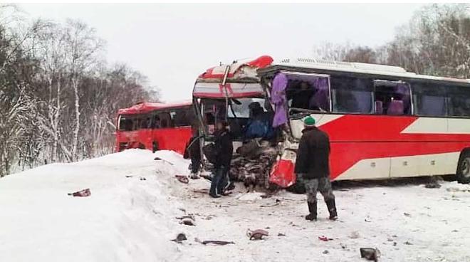 В Камчатском крае произошло ДТП с двумя автобусами, есть жертвы