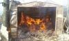 В Коломягах вместе с гаражом сгорели две машины, ещё две серьёзно пострадали