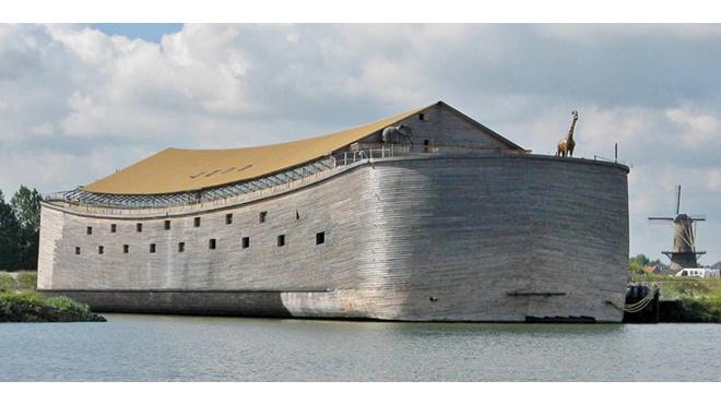 Житель Нидерландов несколько лет назад построил библейский ковчег и теперь хочет буксировать его в Израиль