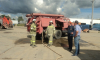 Добровольный отряд пожарных потушил пожар в Гатчинском районе