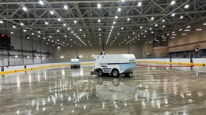 Рабочие завершили строительство катка-долгостроя в Приморском районе