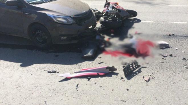 На Товарищеском проспекте произошло смертельное ДТП с участием мотоциклиста