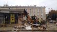 Около Витебского вокзала демонтируют торговый павильон ...