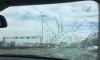 Глыба льда упала с Вантового моста на машину и чуть не убила водителя