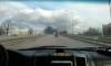 Пискаревский проспект затянуло дымом из-за горящих покрышек