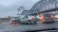 Утренняя авария на Октябрьской набережной вызвала пробку