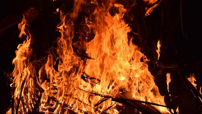 В Кронштадте загорелась крыша автосервиса