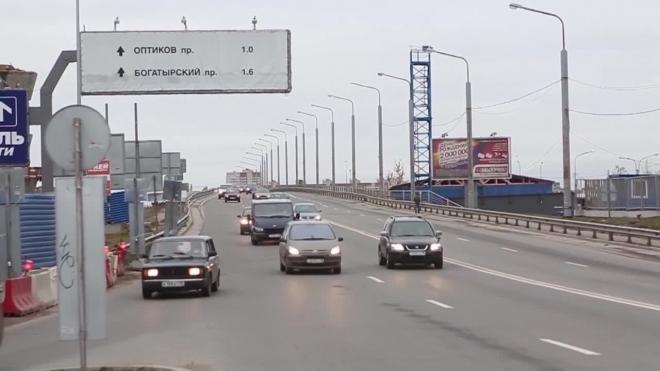 КАД в районе Пискаревского проспекта перекроют до конца декабря из-за ремонта дороги