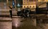 """В Петергофе автомобиль """"BMW"""" врезался в автобус"""