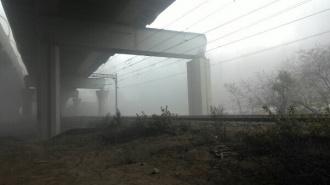 Первые фото крупного пожара на Кировском заводе появились в Сети