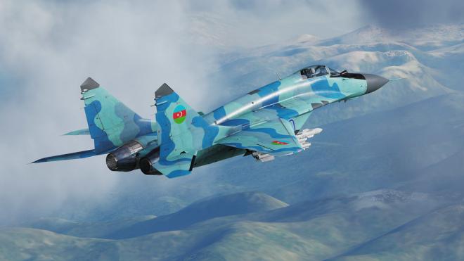 МиГ-29 ВВС Азербайджана потерпел крушение и упал в Каспийское море