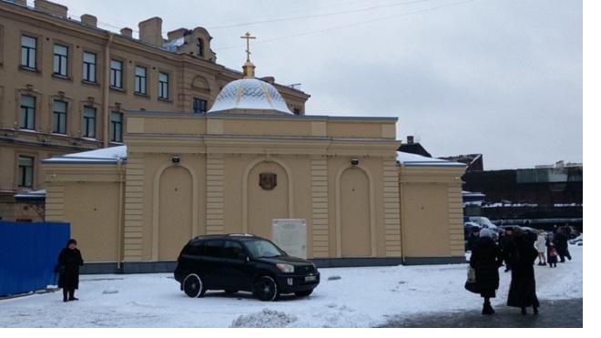 На Сенной открыли церковь на месте взорванного собора