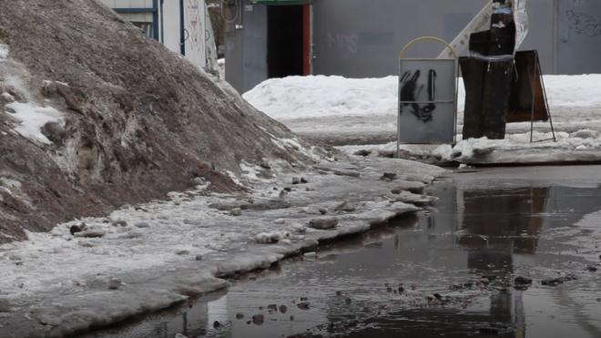 МЧС предупредило жителей Ленобласти о гололеде и мокром снеге