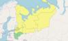 В Петербурге и Ленобласти объявили желтый уровень погодной опасности