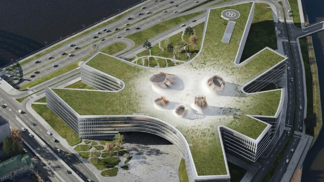 В Петербургена Охтинском мысе появится деловой комплекс и парк