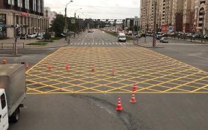 В Петербурге появились новые вафельные разметки