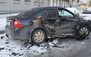Две машины столкнулись на перекрёстке Зайцева и Новостроек