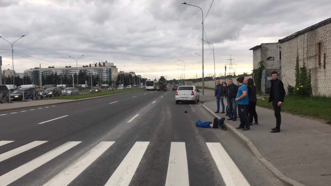 Бетономешалка сбила ребенка в Петербурге