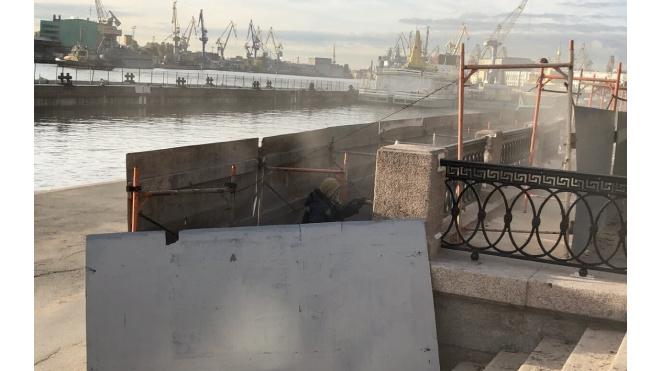 В Петербурге набережную Лейтенанта Шмидта отремонтировали за 39 млн рублей
