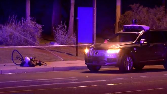 В США автомобиль Uber на автопилоте насмерть сбил женщину