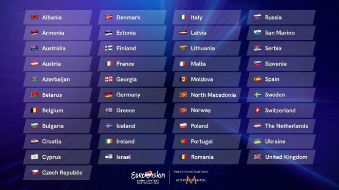 Представители более 40 стран подтвердили участие в Евровидении-2021