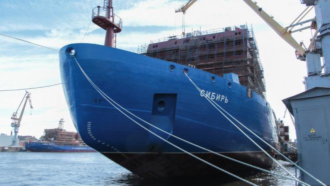 """В Петербурге проходят испытания самого мощного в мире ледокола """"Сибирь"""""""