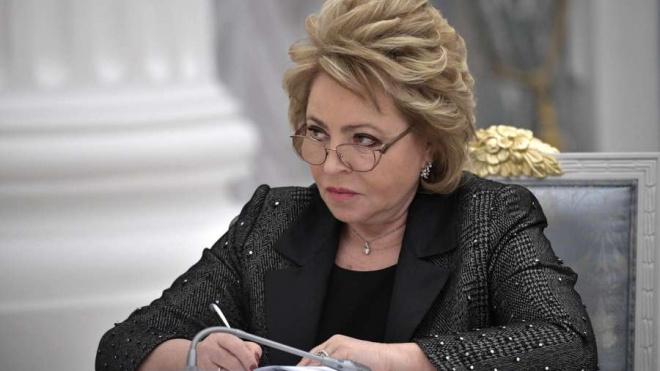 Беглов хочет выдвинуть в сенаторы от Петербурга Валентину Матвиенко