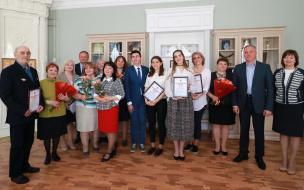 В Выборгском районе наградили лучших школьников-олимпиадников