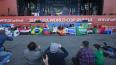 Во время матча Бразилия-Коста-Рика в Петербурге закрыли ...