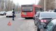 У Выборгского судостроительного завода рейсовый автобус ...