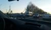 На Ропшинском шоссе массовое ДТП с участием маршрутки и рейсового автобуса
