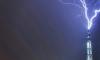 """В шпиль """"Лахта-центра"""" ударила молния"""