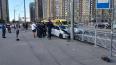 В Петербурге легковушка врезалась в такси и сбила ...