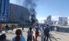 Пиротехники взорвали автомобиль на Комендантском проспекте