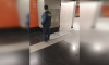 """В вестибюле станции метро """"Беговая"""" от стены отвалилась плитка"""