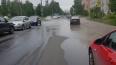 В Колпино затопило машины из-за прорыва трубы