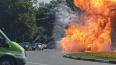 В подмосковном Одинцово взорвался и выгорел автомобиль