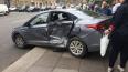 Иномарку после столкновения выбросило на тротуар Литейно...