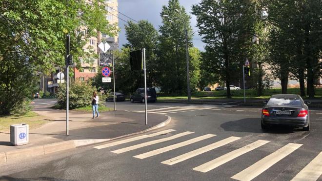 По шести адресам в Невском районе обустроили пешеходные переходы