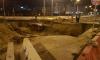 На севере Петербурга автоледи на Кашкае влетела в строительную яму