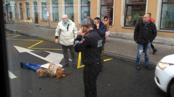 На Суворовском проспекте сбили женщину