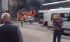 Появились страшные фото пожара в автобусе на проспекте Ветеранов