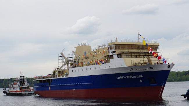 Грузо-пассажирское судно  нового проекта спустил на воду Невский ССЗ