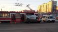 Из-за ДТП на севере Петербурга остановились трамваи