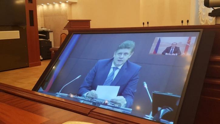Владимир Рублевский провел прием граждан в режиме видеоконференцсвязи