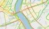 Четырехкилометровая пробка собралась в районе моста Александра Невского