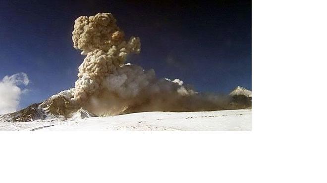 На Камчатке от вулкана Безымянный протянулся шлейф на 600 километров